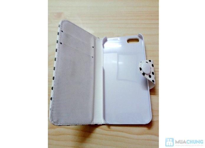 Bao da Iphone 5/5S chấm bi - 1