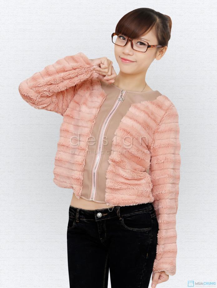 Áo khoác lông cá tính - 2