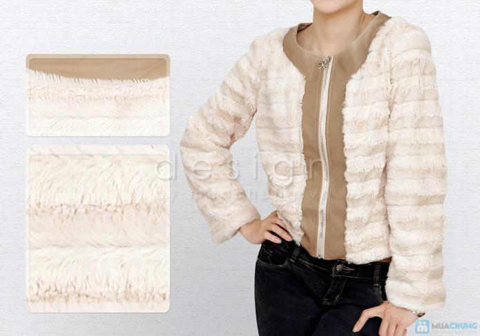 Áo khoác lông cá tính - 5