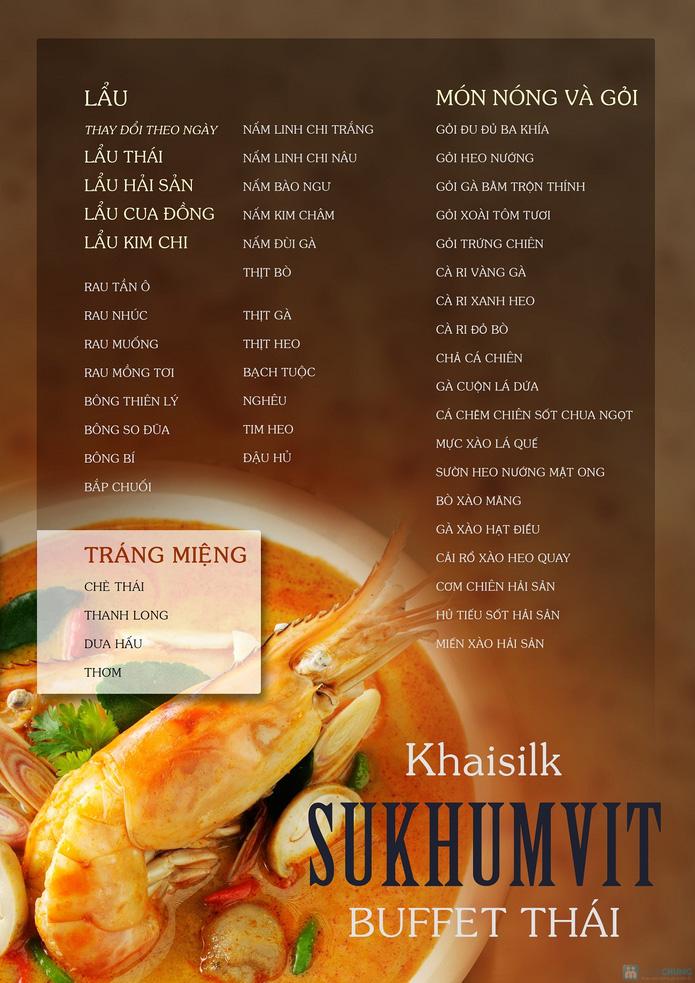 KhaiSilk - Sukhumvit Buffet Thái với trên 40 món tối thứ 6, 7, CN - 1
