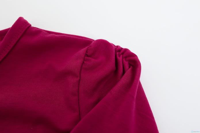 Combo 2 áo dài tay cotton cho bé gái - 4
