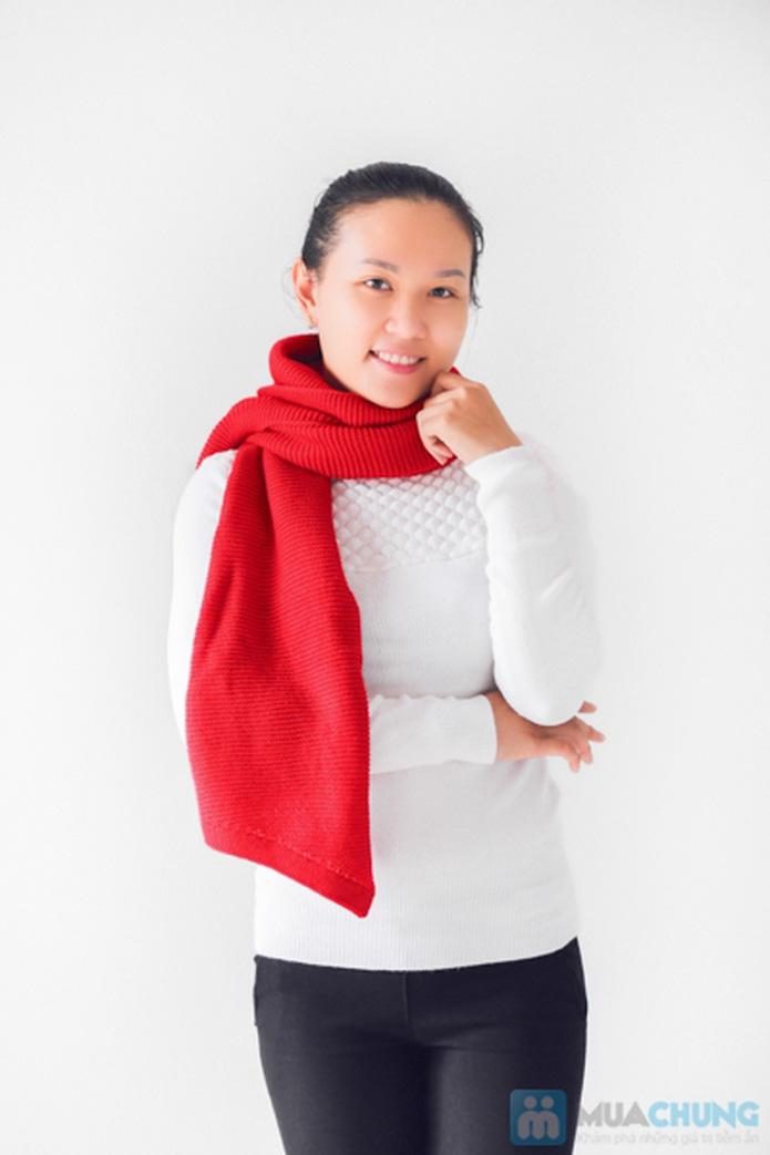 Khăn len mịn dáng dài - 4