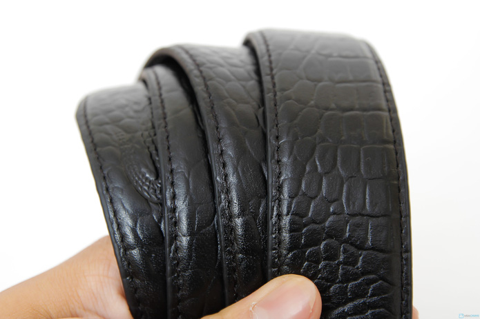thắt lưng khóa lật da vân cá sấu (bảo hành 1 năm ) - 2