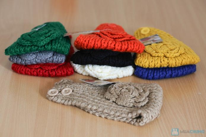 Khăn len dùng làm ấm cổ hoặc băng đô  - 3