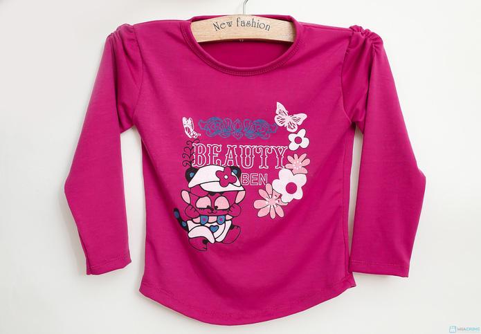 Combo 2 áo dài tay cotton cho bé gái - 8