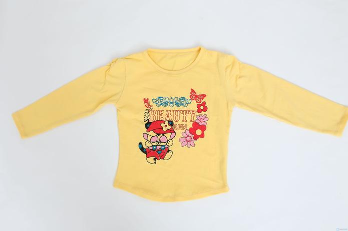 Combo 2 áo dài tay cotton cho bé gái - 3