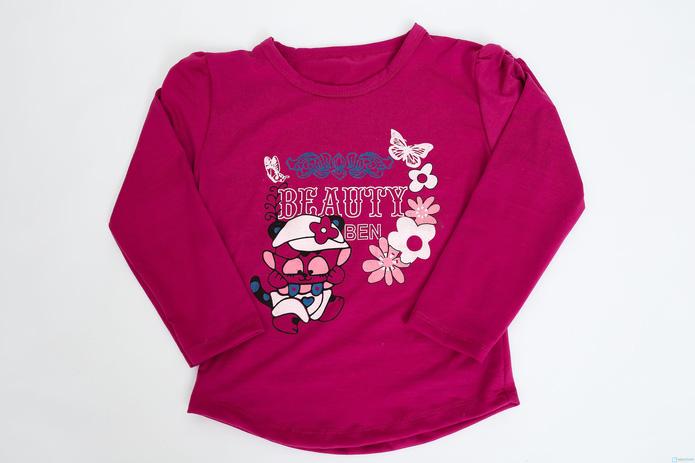 Combo 2 áo dài tay cotton cho bé gái - 2