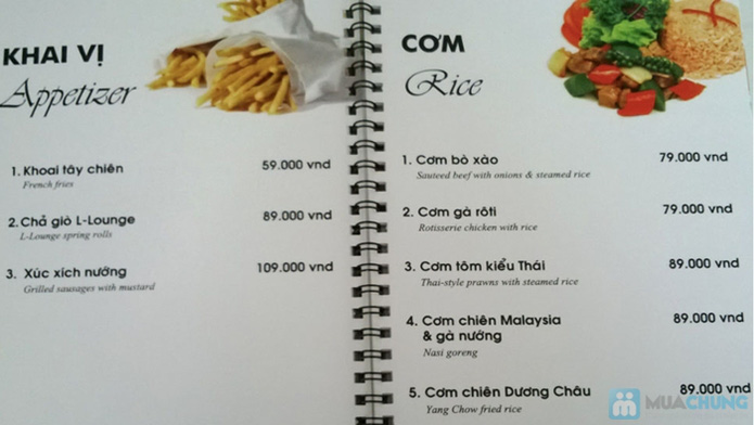 Phiếu giảm giá trên toàn menu tại L – LOUNGE RESTAURANT & COFFEE - 22