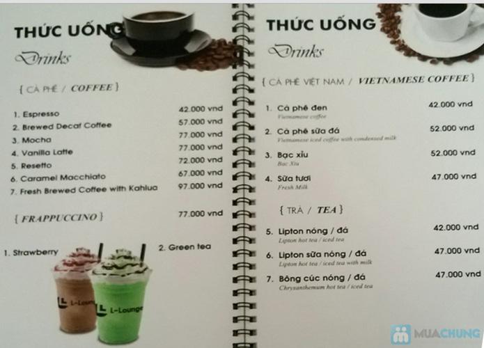 Phiếu giảm giá trên toàn menu tại L – LOUNGE RESTAURANT & COFFEE - 24