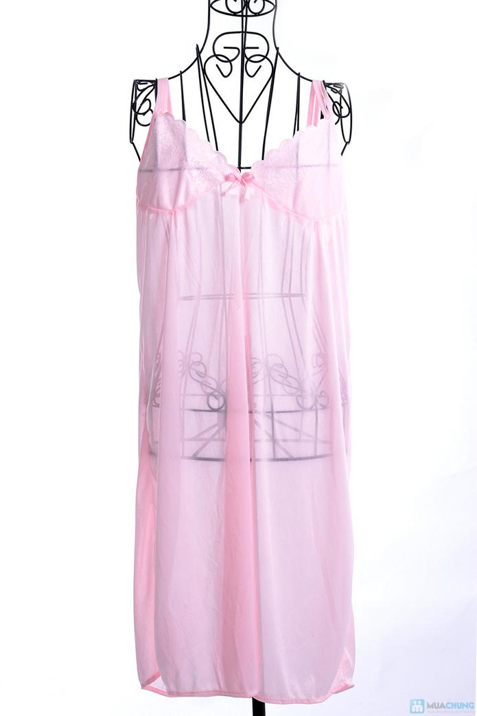 Đầm ngủ gợi cảm kèm áo khoác - 2