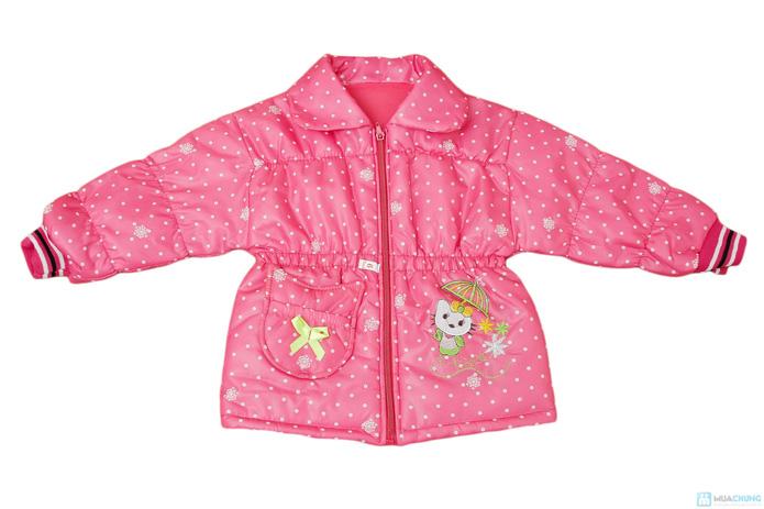 Thời trang và ấm áp với áo khoác phao cho bé gái - 1