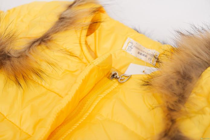 Áo phao cổ lông nhiều màu sắc cho bé gái - 10