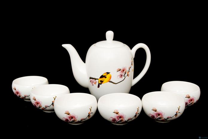 Bộ ấm trà hoa đào - 1