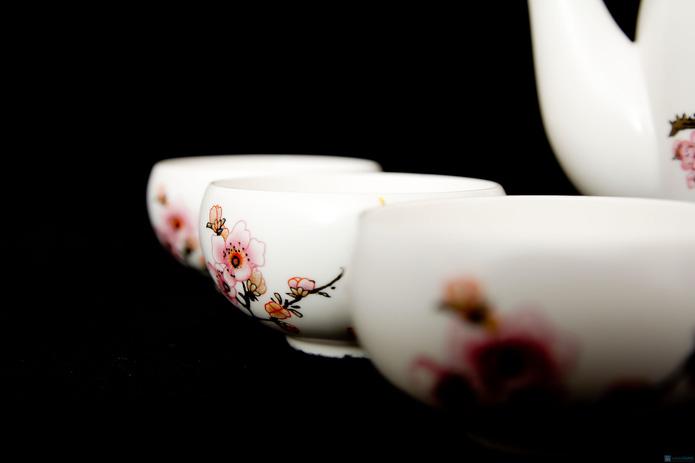 Bộ ấm trà hoa đào - 4