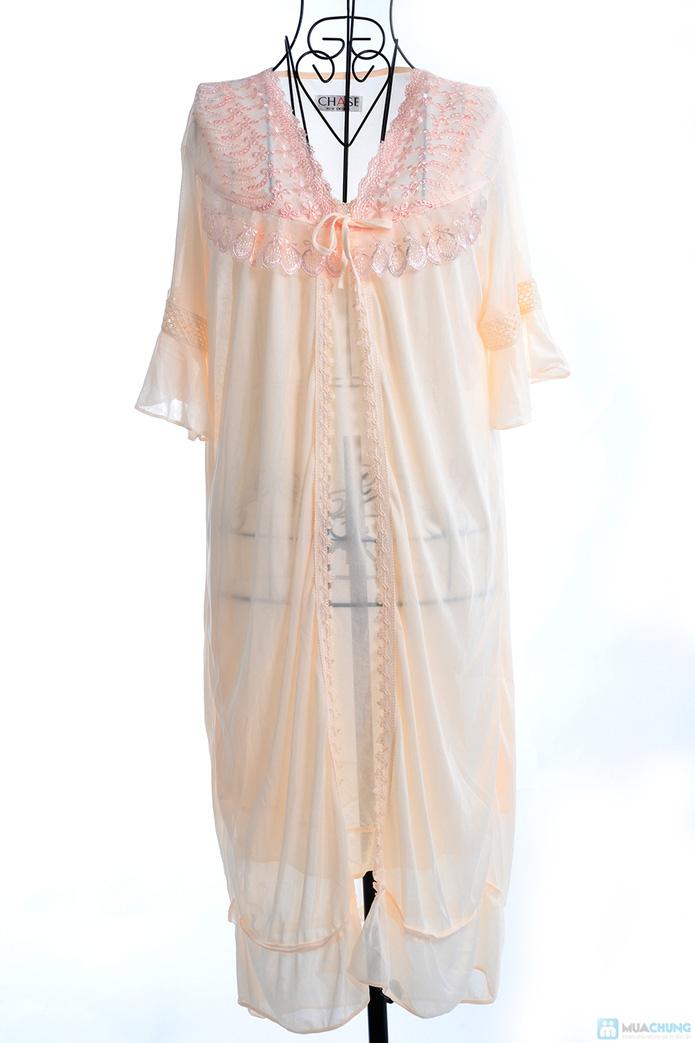 Đầm ngủ gợi cảm kèm áo khoác - 7