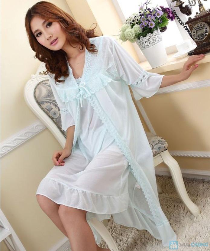 Đầm ngủ gợi cảm kèm áo khoác - 4