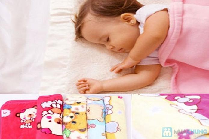 Chăn băng lông hoạt hình ngộ nghĩnh cho bé - 1
