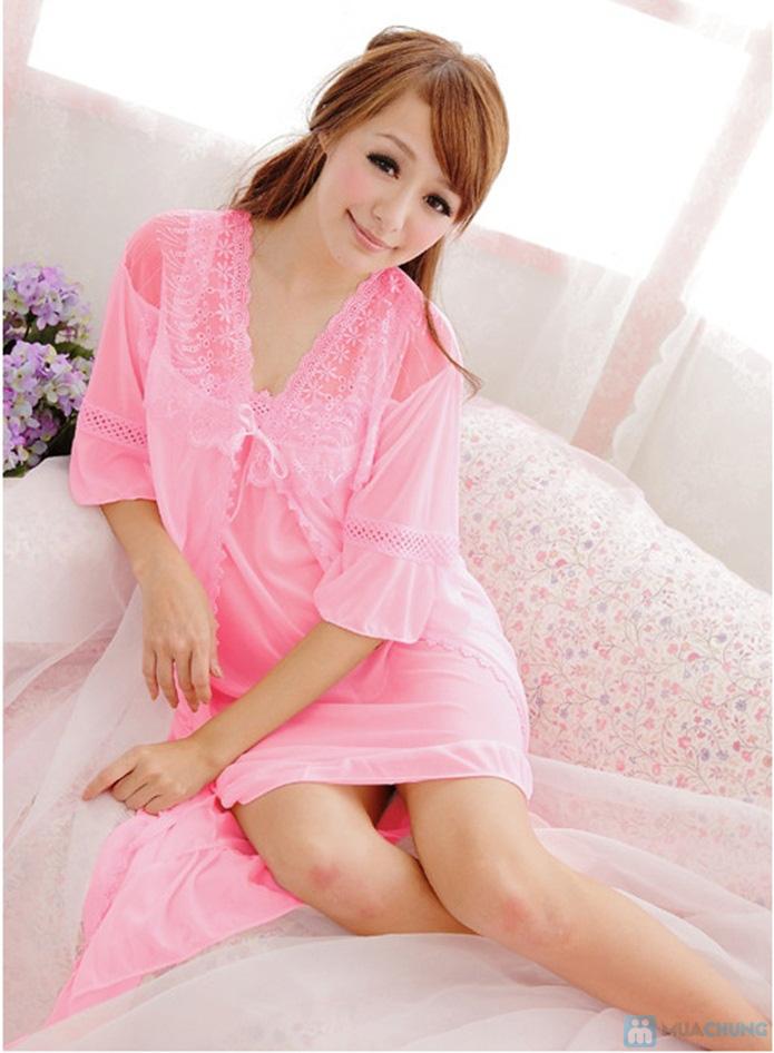 Đầm ngủ gợi cảm kèm áo khoác - 9