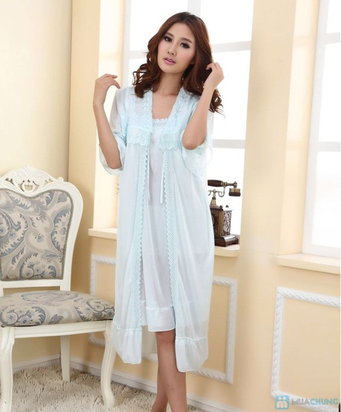 Đầm ngủ gợi cảm kèm áo khoác - 3