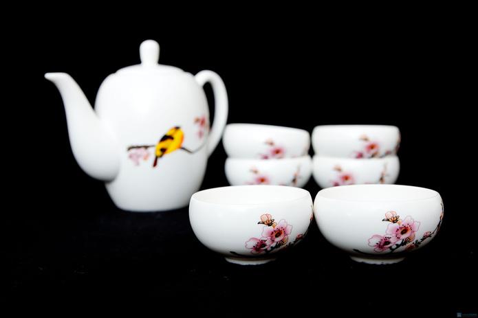 Bộ ấm trà hoa đào - 7