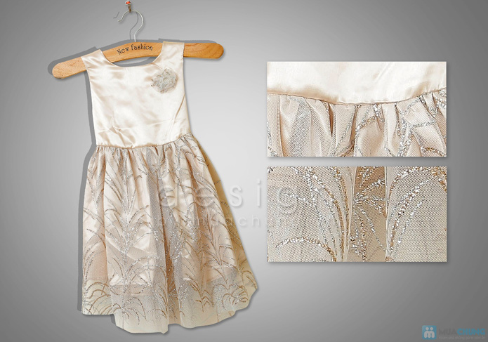 Váy công chúa xinh xắn cho bé gái - 4