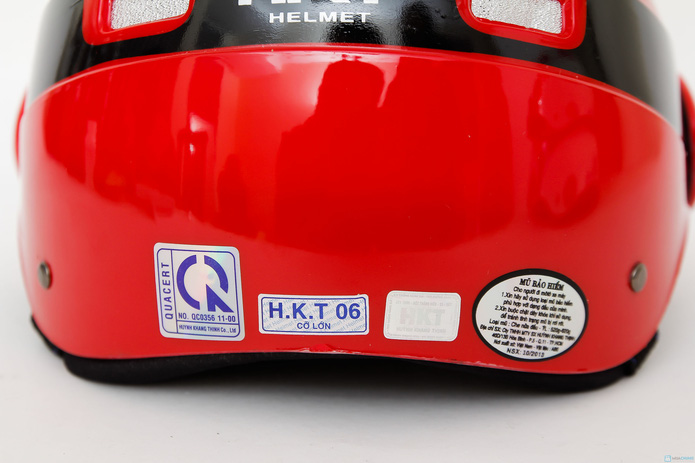 Mũ bảo hiểm 6 lỗ có kính chăn HKT - 6
