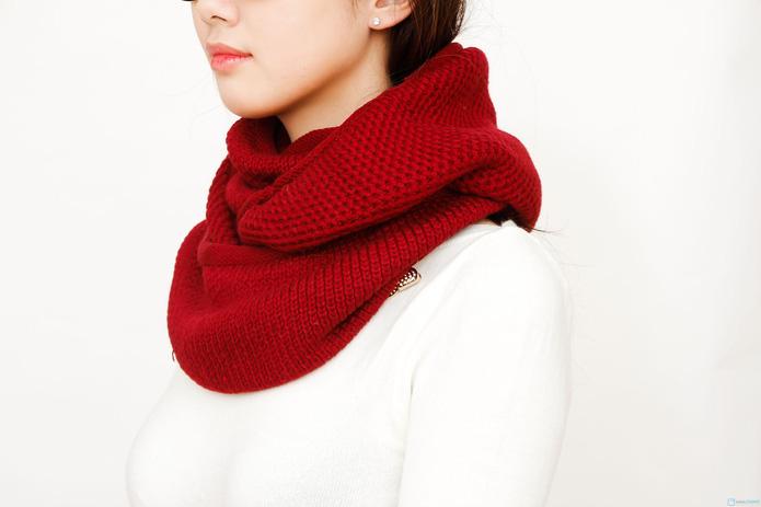 khăn len ống xì tin cho bạn nữ - 4