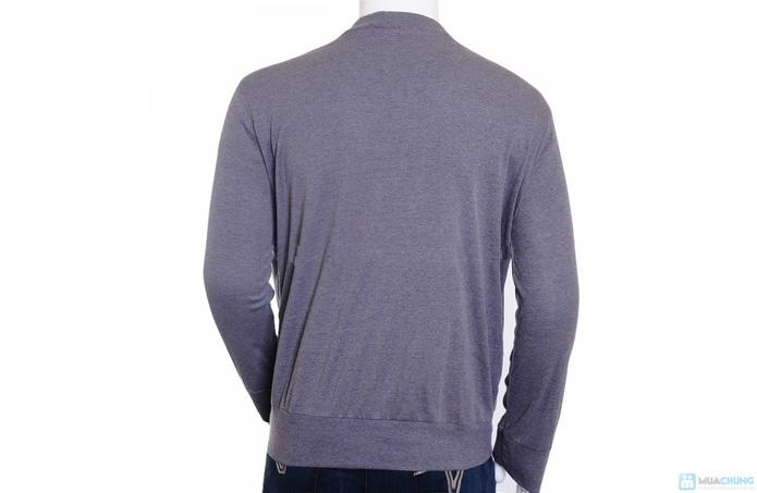 Áo khoác nam len dệt kim - 2