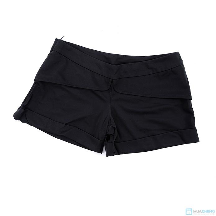 Set quần short + Áo sơ mi voan sành điệu - 8
