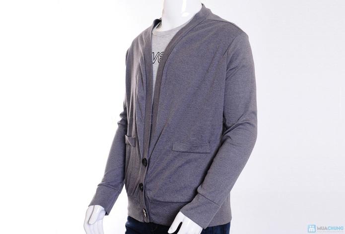 Áo khoác nam len dệt kim - 3