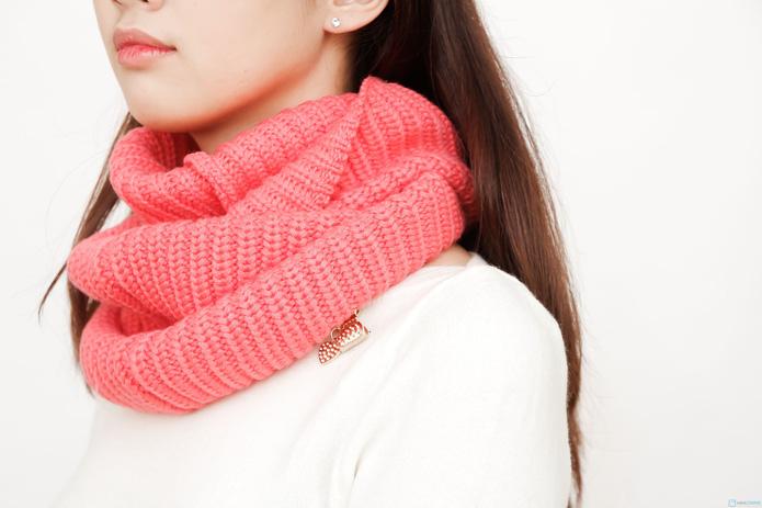 khăn len ống xì tin cho bạn nữ - 6