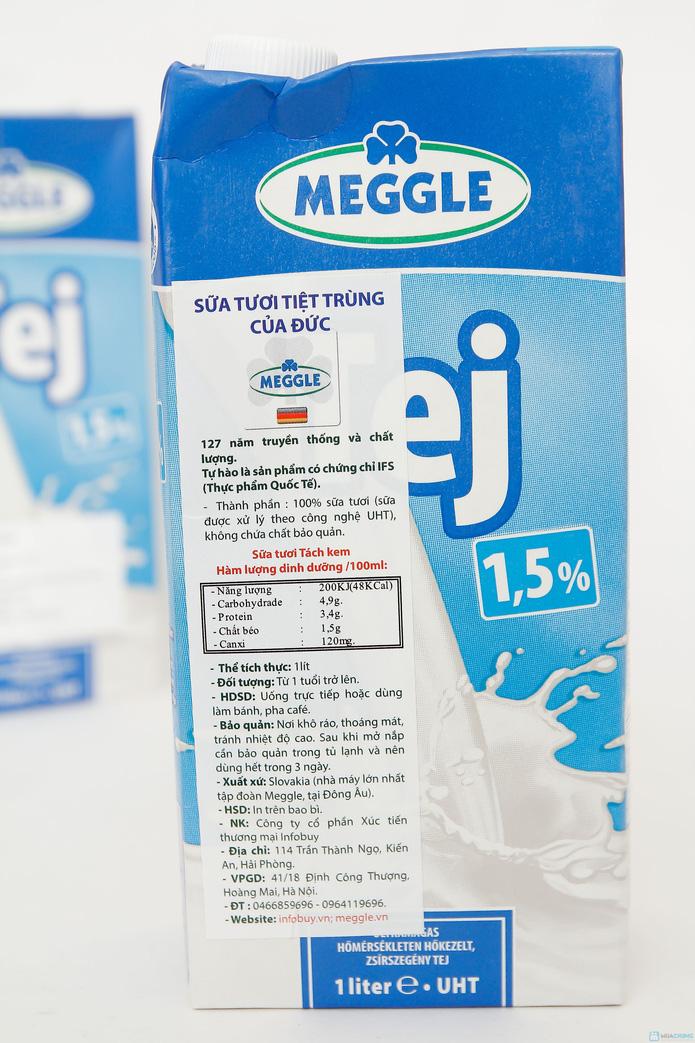 combo 6 hộp sữa Meggle Tách kem loại 1L của Đức - 4