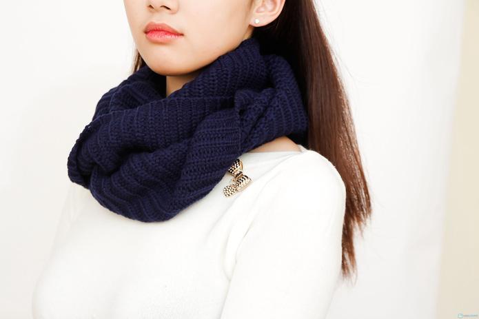 khăn len ống xì tin cho bạn nữ - 3