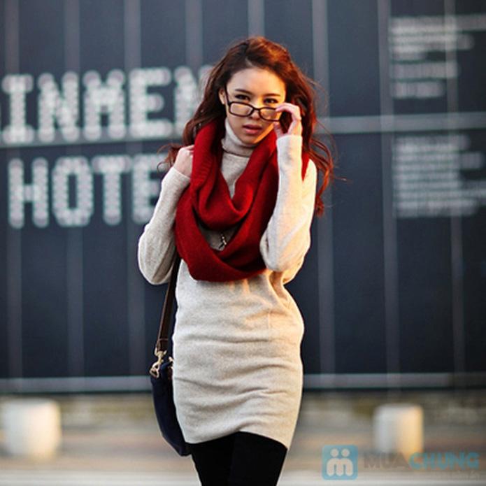 khăn len ống xì tin cho bạn nữ - 1
