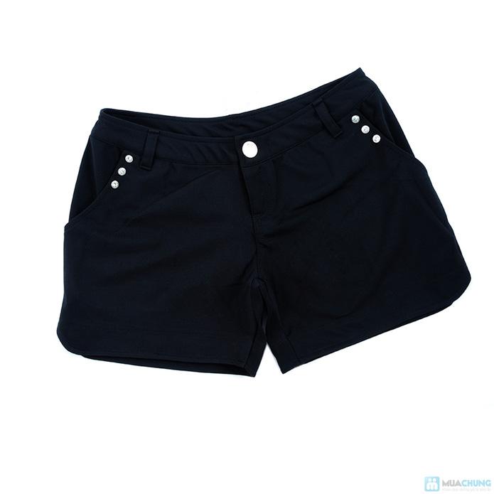 Set quần short + Áo sơ mi voan sành điệu - 7