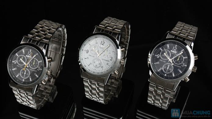 Đồng hồ nam mặt tròn thời trang - 2