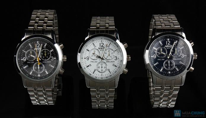 Đồng hồ nam mặt tròn thời trang - 1