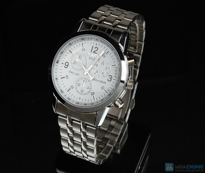 Đồng hồ nam mặt tròn thời trang - 6