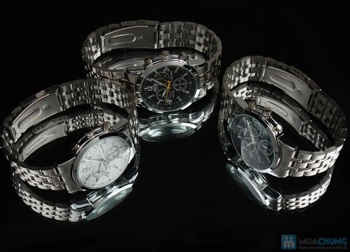 Đồng hồ nam mặt tròn thời trang - 4