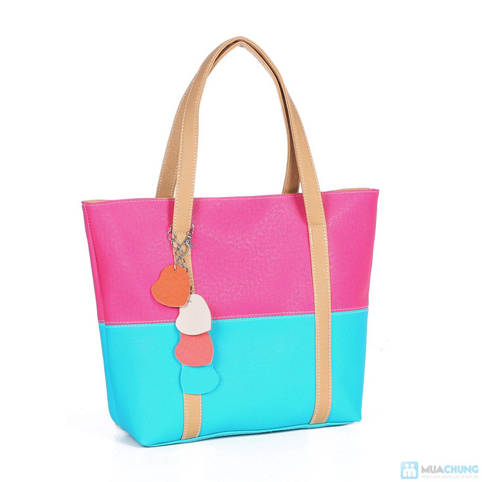 Túi xách thời trang logo hình trái tim - 2