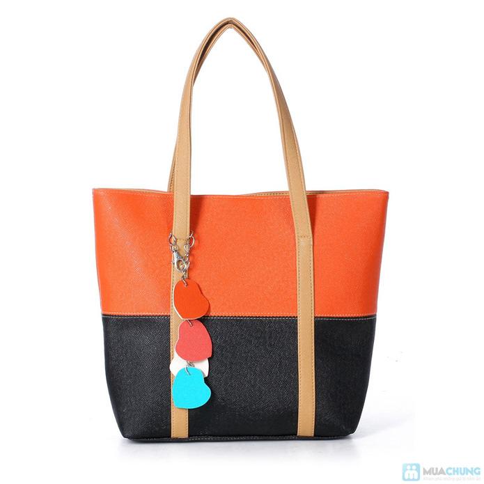 Túi xách thời trang logo hình trái tim - 4