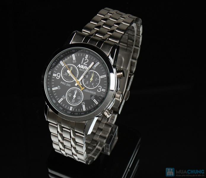 Đồng hồ nam mặt tròn thời trang - 7