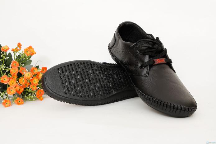 Giày phong cách cho nam dây buộc( da bò thật ) - 5