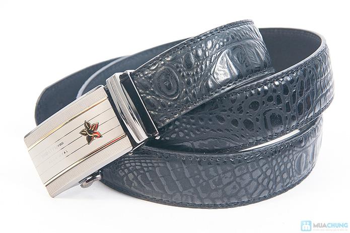 Thắt lưng nam da bò vân cá sấu - Mặt khóa tự động - 6