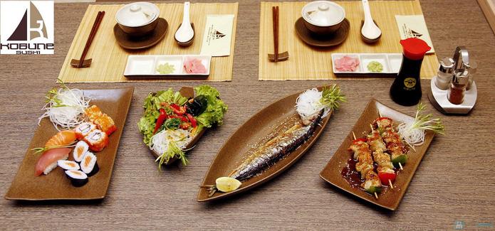Set ăn 2 người tại nhà hàng Nhật Bản Kobunesushi Royal - 1