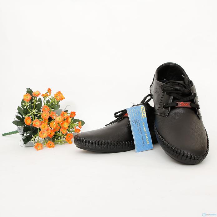 Giày phong cách cho nam dây buộc( da bò thật ) - 1