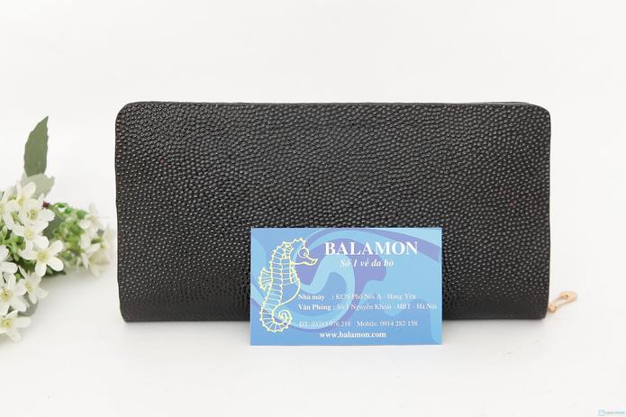 Ví nữ Balamon xuất khẩu da bò thật vân cá đuối - 1