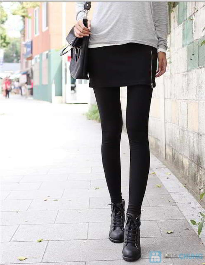 Quần legging co giãn lót lông - 7