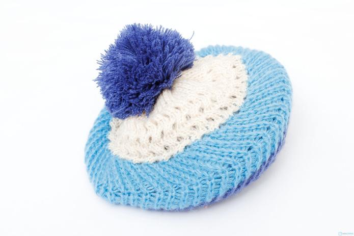 Bộ khăn và mũ nồi len xinh xắn cho bé gái - 8