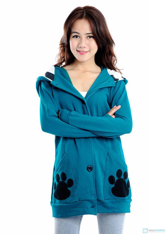 Áo khoác mũ lông, tai gấu - 5